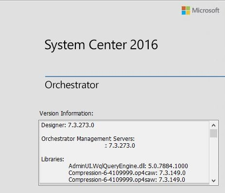 Update Rollup 5 for System Center 2016 Orchestrator