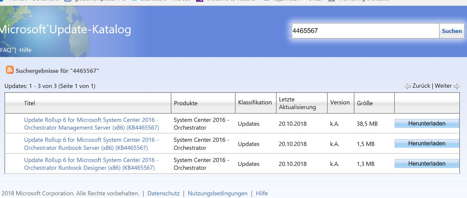 Update Rollup 6 for System Center 2016 Orchestrator available