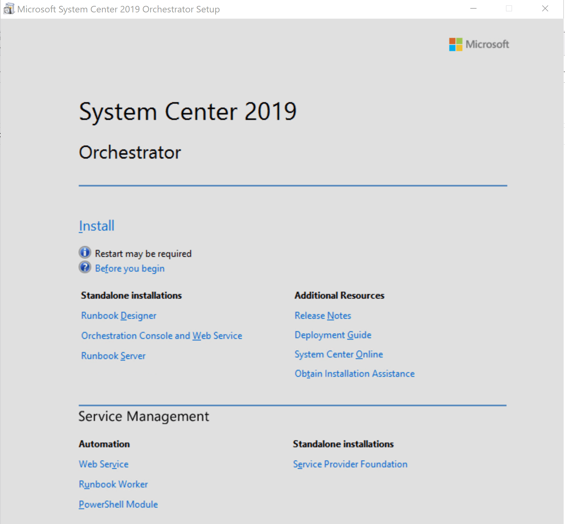 Unboxing System Center 2019 Orchestrator | sc-orchestrator