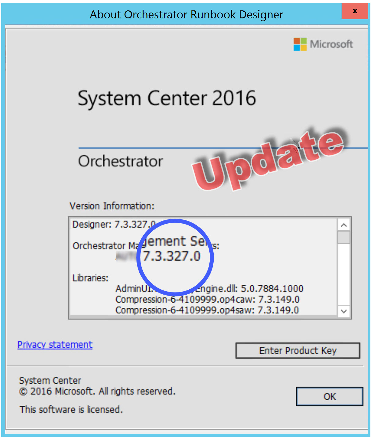 Update Rollup 8 for System Center 2016 Orchestrator has been released
