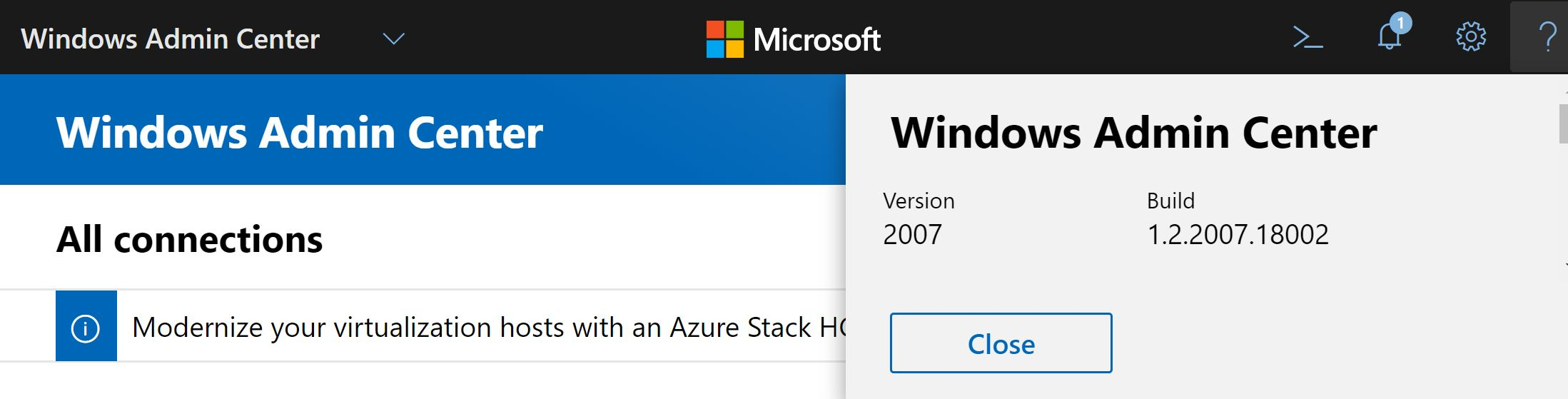 Windows Admin Center version 2007 is generally available!