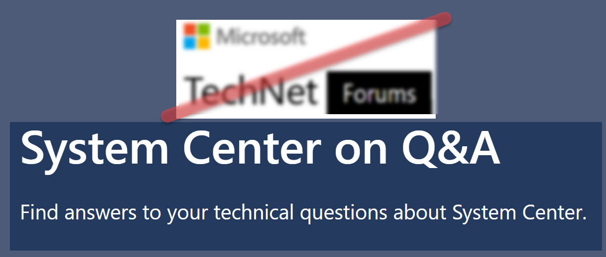 Ask your System Center question at Microsoft Q&A